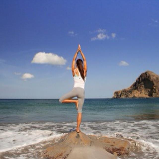 Looks perfect! ? #beach #yoga at Aqua #nicaragua wellness resort! @aquanicaragua