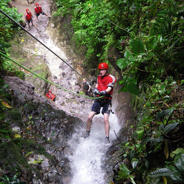 Looking for #adventure? How about waterfall rappelling in #costarica? #bucketlist #vacations