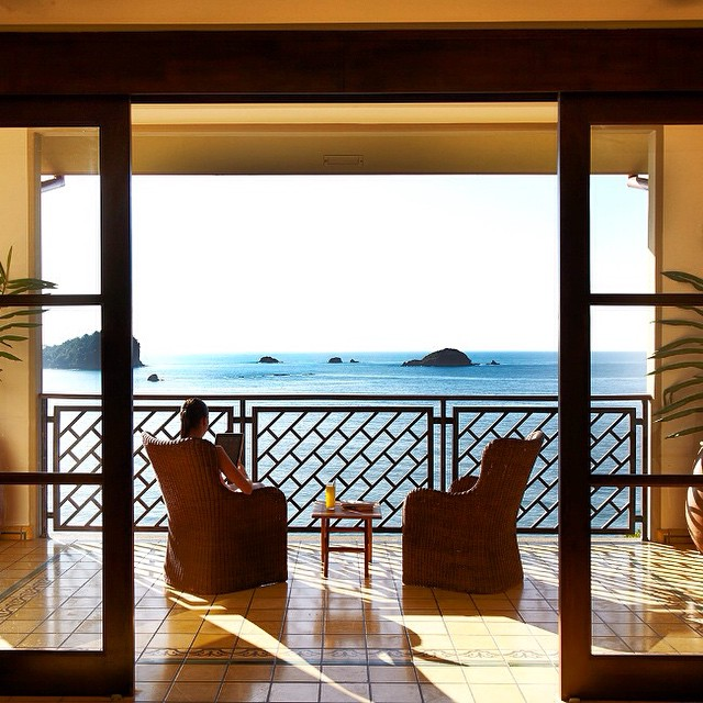 With a view this stunning, you may find it hard to leave the room! At Arenas del Mar Beach Resort #luxury #vacations @arenasdelmar