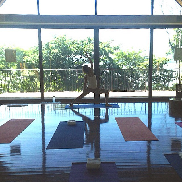 A little morning #yoga at the Andaz Papagayo all to myself! #namaste #andazpapagayo #costarica