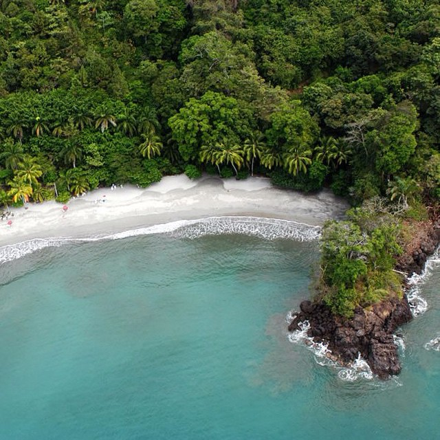 Can't get enough of this rugged #coast! Beautifully #imperfect Manuel Antonio captured by Hotel Si Como No- #costarica #beaches  @sicomonohotel