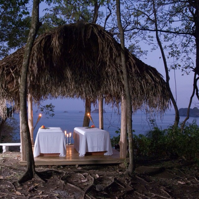 This is within your reach.. a misty evening #rainforest #massage... seaside! ? #costarica #honeymoon #wellness