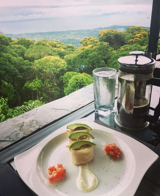 Breakfast at Rancho Pacifico with the best view!