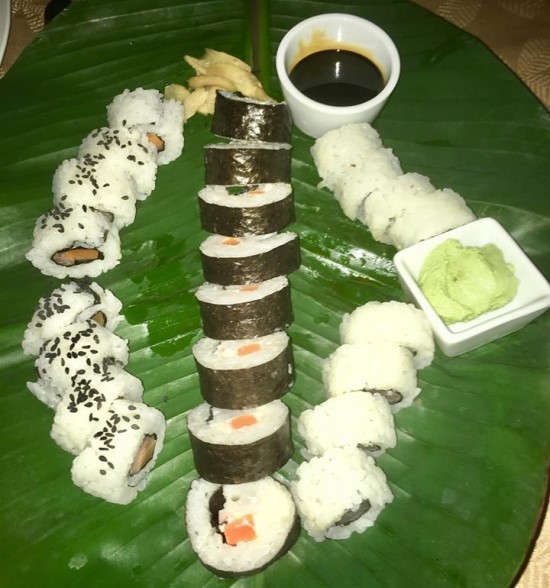 Sushi from Asian themed night