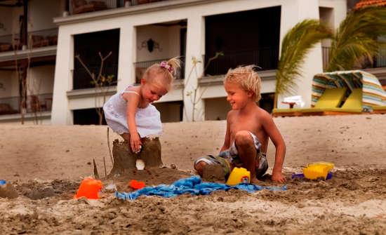 JW Marriott kids on the beach