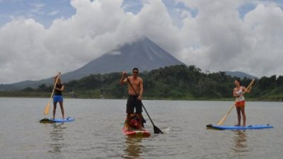 Stand Up Paddle Boarding on Lake Arenal