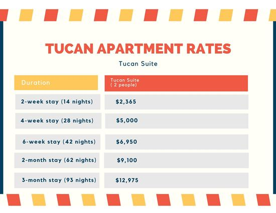 Tucan Apartment Rates