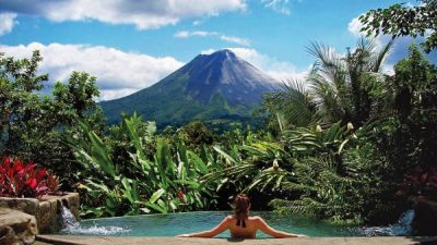 Villa Guayaba Pool with Volcano